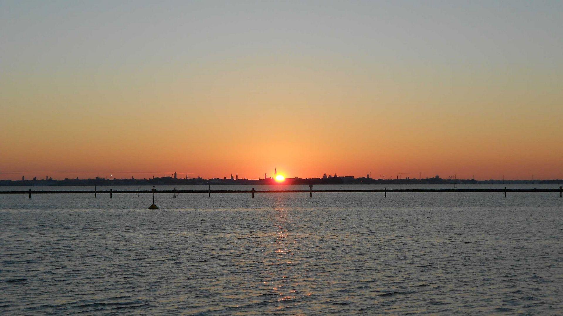 alba del camping fusina su venezia
