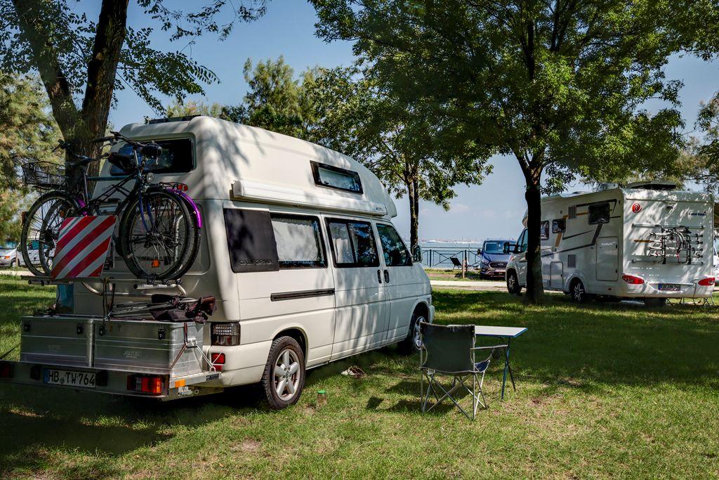 Emplacements du Camping Fusina à Venise