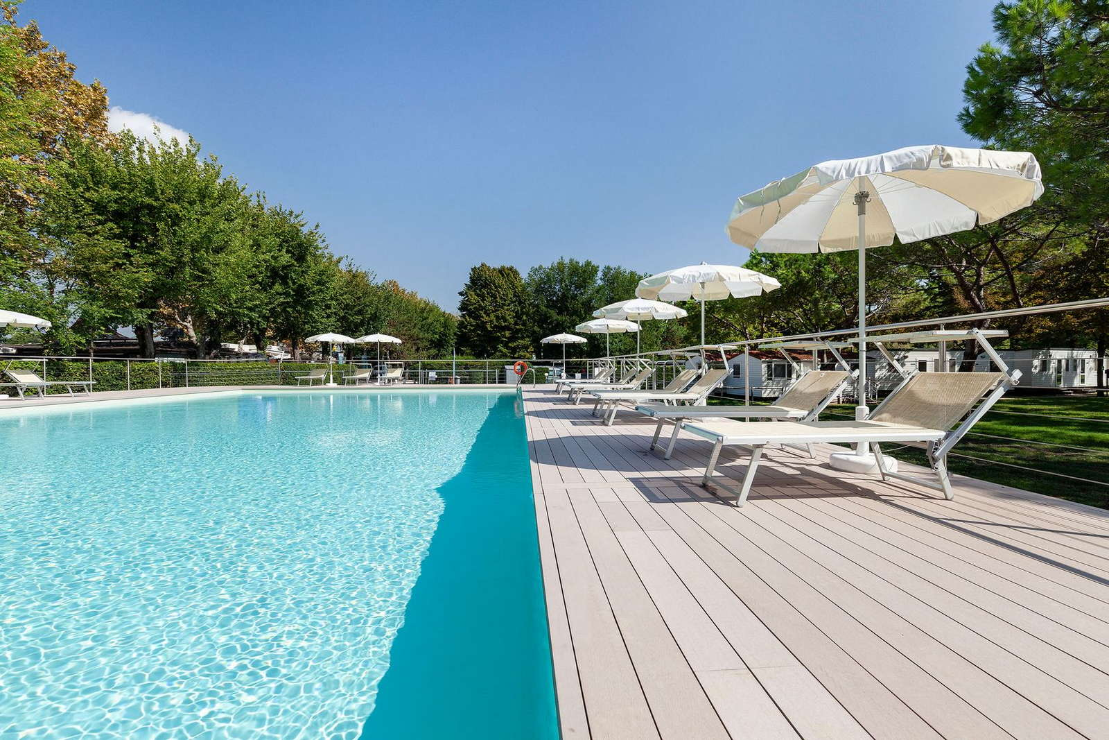 Schwimmbad vom Camping Fusina in Venedig