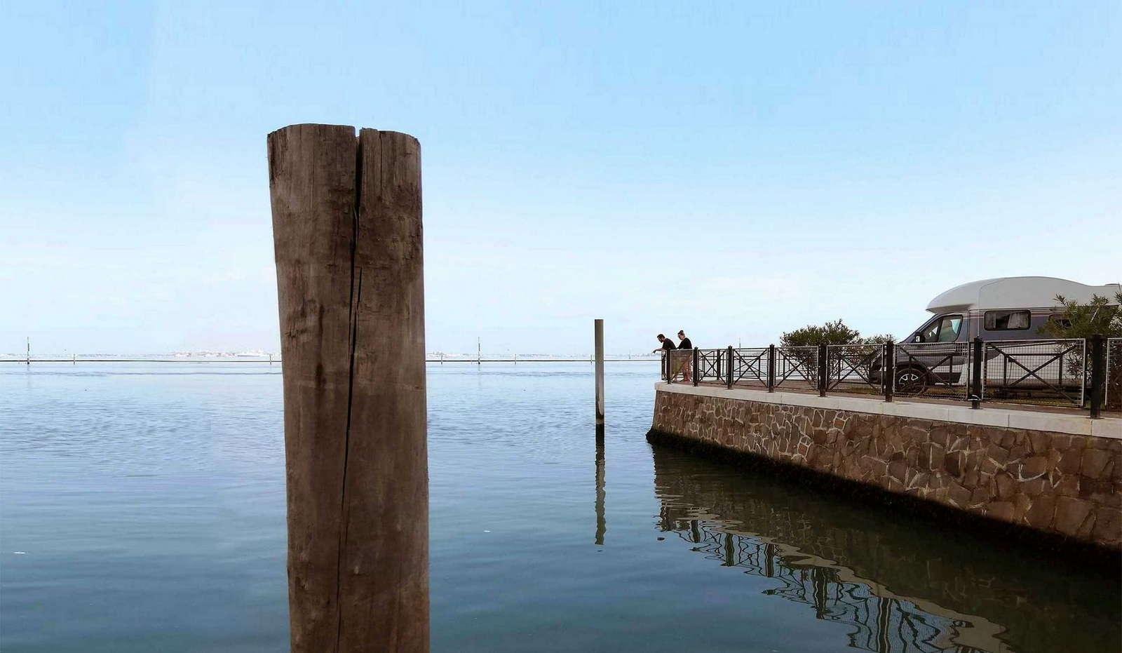 Wohnmobilstellplätze auf Camping Fusina in Venedig