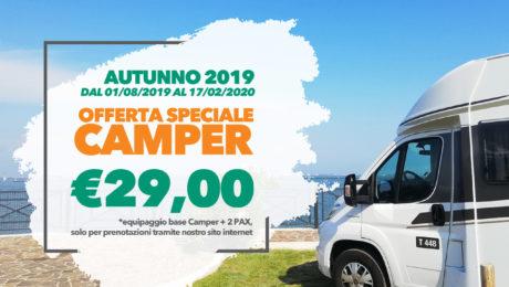 Autunno 2019 Offerta Camper