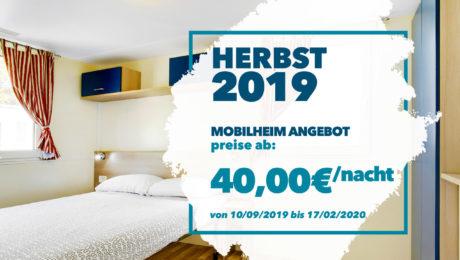 Mobilheimangebot Herbst 2019