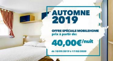 Autumne 2019 - offre spéciale mobilehome venise